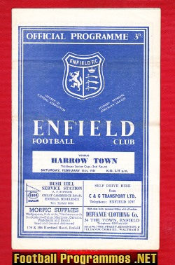 Enfield v Harrow Town 1961 - Senior Cup