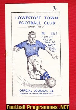 Lowestoft Town v Leiston 1956 - FA Cup Qualifying