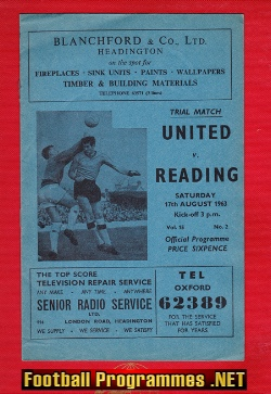 Oxford United v Reading 1963