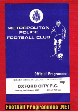 Metropolitan Police v Oxford City 1982 - New Scotland Yard