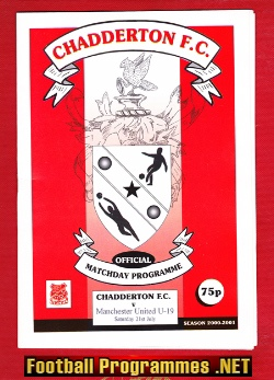 Chadderton v Man Utd 2000 - Under 19 Match U19