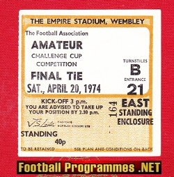 Ilford v Bishops Stortford 1974 - Amateur cup Final TICKET