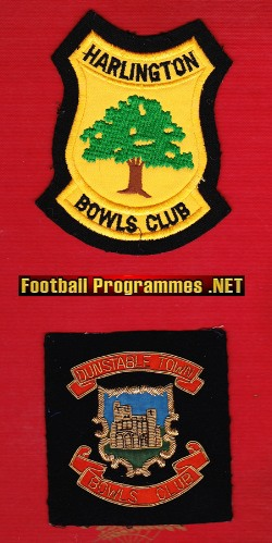 Bowls Patches Badges - Dunstable Town - Harlington Bowls Club