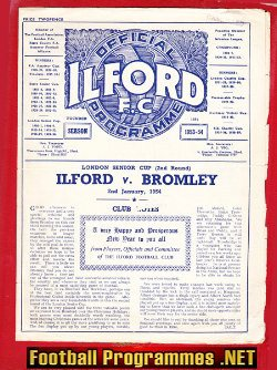 Ilford v Bromley 1954 - London Senior Cup