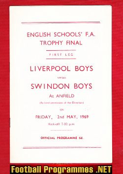 Liverpool Boys v Swindon Boys 1969 - English Schoolboys Final