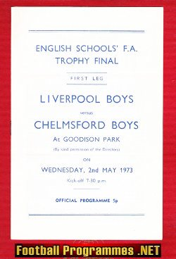 Liverpool Boys v Chelmsford Boys 1973 - English Schoolboys Final