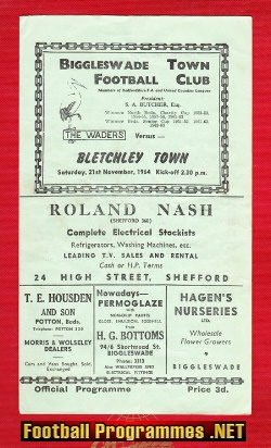 Biggleswade Town v Bletchley Town 1964