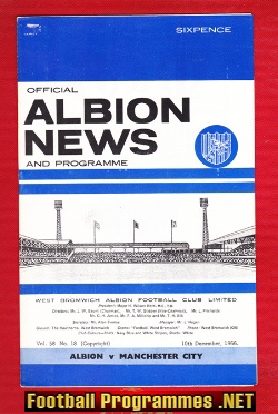 West Bromwich Albion v Man City 1966