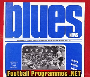 Birmingham City v Burnley 1974