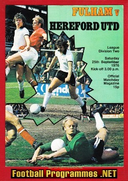 Clyde Home Football Programmes 1974 to 1984
