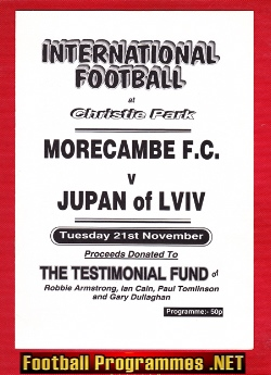 Armstrong - Cain Dullagham Testimonial Benefit Morecambe Signed