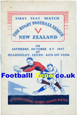 Great Britain Rugby v New Zealand 1947 - Headingly