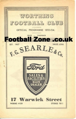 Worthing Town v Lewes 1953