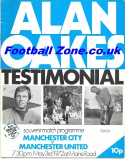 Alan Oakes Testimonial Manchester City 1972 + George Best + Law