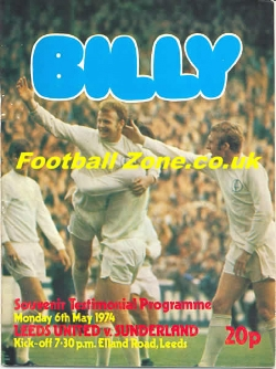Billy Bremner Testimonial Benefit Match Leeds United 1974