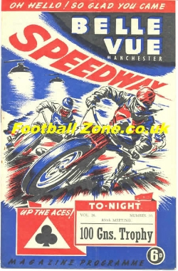 Belle Vue Speedway 1953 The 100 Guineas Trophy Final