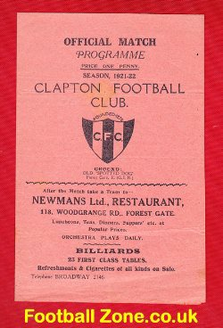 Clapton v GER 1921 - Great Eastern Railway 1920s Programme