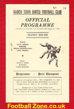 March Town v Eynesbury Rovers 1948