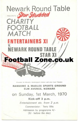 Newark Round Table Testimonial Benefit Match 1970 - David Jason