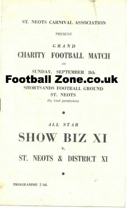 St Neots Carnival Association Football Match 1967 - Sean Connery