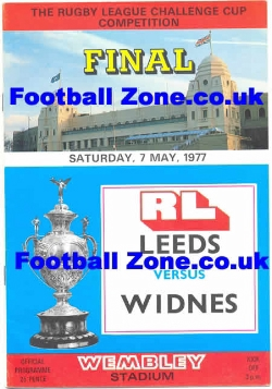Leeds Rugby v Widnes 1977 - Rugby League Cup Final