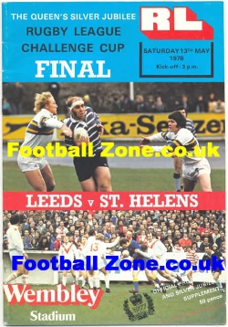 Leeds Rugby v St Helens 1978 - Rugby League Cup Final