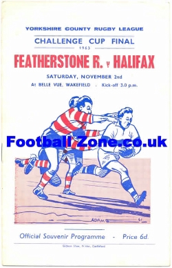 Featherstone Rovers Rugby v Halifax 1963 - League Cup Final