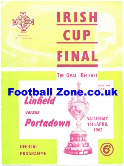 Linfield v Portadown 1962 - Irish Cup Final Ireland