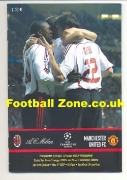 AC Milan v Man Utd 2007 - Pirate Football Programme