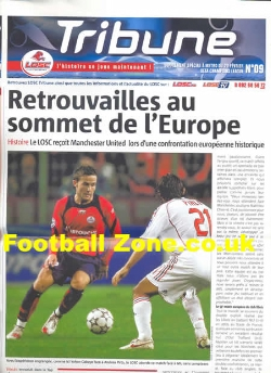 Lille v Man Utd 2007 - Tribune Paper Issue
