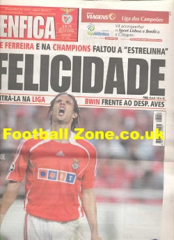 Benfica v Man Utd 2006 - News Paper Issue